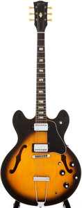 Musical Instruments:Electric Guitars, 1976 Gibson ES-335 Sunburst Semi-Hollow Body Electric Guitar,#00106714....