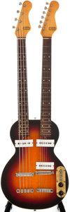 Musical Instruments:Electric Guitars, 1960s Carvin Double Neck Sunburst Semi-Hollow Body Electric Guitar/ Bass Guitar, #N/A. ...