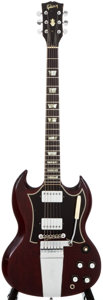 Musical Instruments:Electric Guitars, 1966 Gibson SG Standard Cherry Solid Body Electric Guitar,#004139....