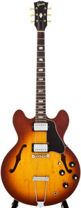 Musical Instruments:Electric Guitars, 1968 Gibson ES-335 Sunburst Semi-Hollow Body Electric Guitar,#831381....