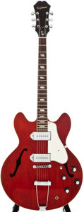 Musical Instruments:Electric Guitars, 1966 Epiphone Casino Cherry Semi-Hollow Body Electric Guitar,#851728....