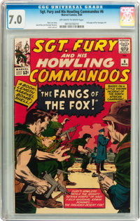 Sgt. Fury and His Howling Commandos #6 (Marvel, 1964) CGC FN/VF 7.0 Off-white to white pages