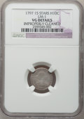 Early Half Dimes, 1797 H10C 15 Stars -- Improperly Cleaned -- NGC Details. VG. V-2,LM-1, R.3....