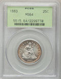 Seated Quarters, 1883 25C MS64 PCGS....