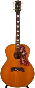 Musical Instruments:Acoustic Guitars, 1972/75 Gibson J-200 Natural Acoustic Guitar, #607066....