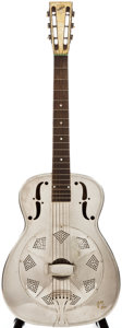Musical Instruments:Acoustic Guitars, 1935 National Don Style 1 Custom Nickel-Plated Resonator Guitar,#X26....