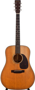 Musical Instruments:Acoustic Guitars, 1953 Martin D-18 Natural Acoustic Guitar, #134495....