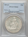 Trade Dollars, 1874-S T$1 MS62 PCGS....