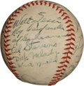 Autographs:Baseballs, 1947 Montreal Royals Team Signed Baseball with Roy Campanella....