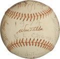 Autographs:Baseballs, 1974 Los Angeles Dodgers Partial Team Signed Baseball....