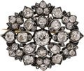 Estate Jewelry:Brooches - Pins, Georgian Diamond, Silver-Topped Gold Pendant-Brooch. ...