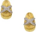 Estate Jewelry:Earrings, Diamond, Gold Earrings, MAZ. ...