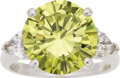 Estate Jewelry:Rings, Irradiated Greenish-Yellow Diamond, Diamond, Platinum Ring,Underwood's. ...