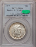 Commemorative Silver: , 1950 50C Booker T. Washington MS66 PCGS. CAC. PCGS Population(152/2). NGC Census: (142/13). Mintage: 6,004. Numismedia Wsl...