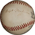 Autographs:Baseballs, 1950's Dwight D. Eisenhower Single Signed Baseball....