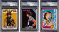 Basketball Collectibles:Others, 1970's Pete Maravich Signed Topps Cards Lot of 3....