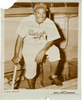 Baseball Collectibles:Photos, Circa 1949 Jackie Robinson Signed Photograph....
