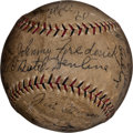 Autographs:Baseballs, 1929 Brooklyn Robins Team Signed Baseball....