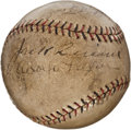 Autographs:Baseballs, 1931-32 Brooklyn Dodgers Partial Team Signed Baseball....