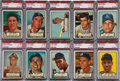 Baseball Cards:Lots, 1952 Topps Baseball High Number PSA-Graded Collection (10). ...