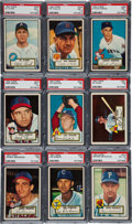 Baseball Cards:Lots, 1952 Topps Baseball PSA-Graded Collection (16). ...