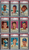 Baseball Cards:Lots, 1952 Topps Baseball PSA NM-MT 8 Collection (9) - From New Find. ...