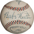 Autographs:Baseballs, Circa 1928 Babe Ruth Single Signed Baseball....