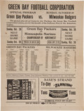Football Collectibles:Programs, 1924 Green Bay Packers vs. Milwaukee Badgers Program - Only Known Example!...