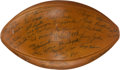 Football Collectibles:Balls, 1959-60 Green Bay Packers Team Signed Football....