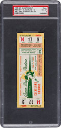 Football Collectibles:Tickets, 1965 NFL Championship Game Packers vs. Browns Full Ticket, PSA NM-MT 8 - Pop 1, Finest Example in Existence!...