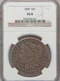 Morgan Dollars: , 1899 $1 VG8 NGC. NGC Census: (8/7483). PCGS Population (5/10159).Mintage: 330,846. Numismedia Wsl. Price for problem free ...
