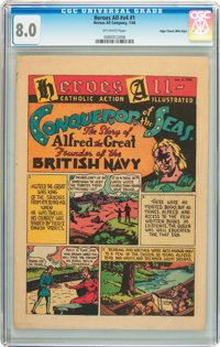 Heroes All Catholic Action Illustrated CGC Group - Mile High pedigree (Heroes All Co., 1945-46).... (Total: 2 Comic Book...