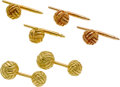 Estate Jewelry:Cufflinks, Gentleman's Gold Dress Set, Schlumberger, Tiffany & Co.. ...
