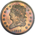 Proof Classic Head Half Cents, 1836 1/2 C PR64 Red and Brown PCGS. B-1, R.5....