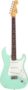Musical Instruments:Electric Guitars, 1986 Fender Stratocaster Sea Foam Green Solid Body Electric Guitar,#V019234....