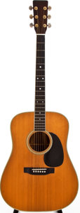 Musical Instruments:Acoustic Guitars, 1973 Martin D-35 Natural Acoustic Guitar, #323838....
