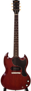 Musical Instruments:Electric Guitars, 1964 Gibson SG Junior Cherry Solid Body Electric Guitar,#220703....