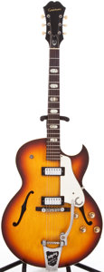 Musical Instruments:Electric Guitars, 1966 Epiphone E452T Sorrento Sunburst Semi-Hollow Body ElectricGuitar, #434364....