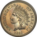 Proof Indian Cents, 1860 1C PR65 PCGS....