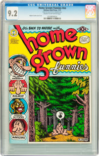 Home Grown Funnies #nn First Printing (Kitchen Sink, 1971) CGC NM- 9.2 Cream to off-white pages