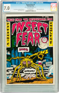 Bronze Age (1970-1979):Alternative/Underground, Insect Fear #1 (Print Mint, 1970) CGC FN/VF 7.0 Off-white pages....
