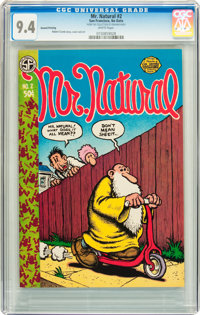 Mr. Natural #2 Second Printing (Apex Novelties, 1971) CGC NM 9.4 White pages