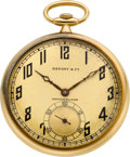 Timepieces:Pocket (post 1900), Tiffany & Co. 18k Pocket Watch By Touchon & Co.. ...