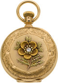 Timepieces:Pocket (pre 1900) , Elgin 14k Multicolor Gold 6 Size, circa 1886. ...