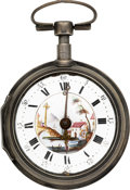 Timepieces:Pocket (pre 1900) , M. Krumphueber, Kremsmunster, German Quarter Hour Repeating VergeFusee, circa 1790. ...