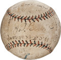 Autographs:Baseballs, 1919-21 St. Louis Browns Team Signed Baseball....