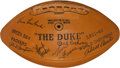 Football Collectibles:Balls, 1963 Green Bay Packers Team Signed Football....