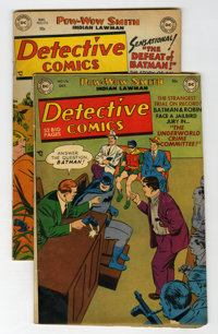 Detective Comics #176 and 178 Group (DC, 1951-52) Condition: Average VG.... (Total: 2 Comic Books)