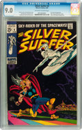 Silver Age (1956-1969):Superhero, The Silver Surfer #4 (Marvel, 1969) CGC VF/NM 9.0 Off-white to white pages....