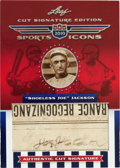 Autographs:Sports Cards, 2010 Leaf Sports Icons Shoeless Joe Jackson Signed Cut Signature Trading Card....